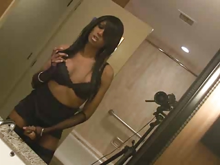 indian tranny stroking cock