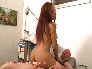 Shemale Nurse Medical Facesitting and Ass Worship Treatment