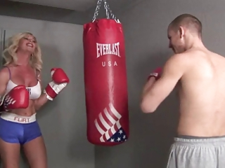 Foxy angel banging a boxer (Shemale fucking guy)