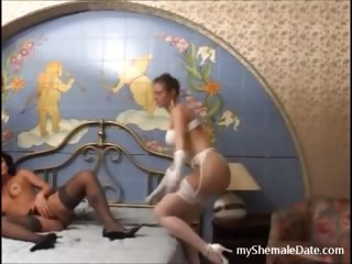 Hot Tgirl enjoys fucking with a married couple