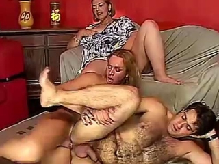 Hairy hunk gets shemale fucked