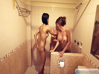 Shemale Asian Trannies in the shower