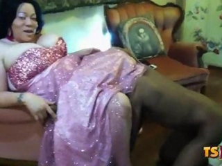 Mature Ebony Blowjob