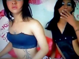 two trannys teasing webcam
