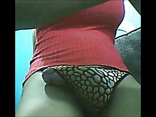 Ladyboy Playing with Cock and Self Sucking