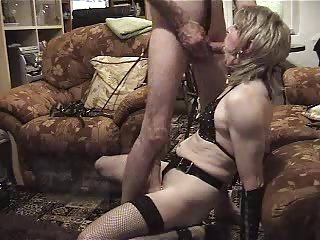 OLD TS crossdresser cumshot
