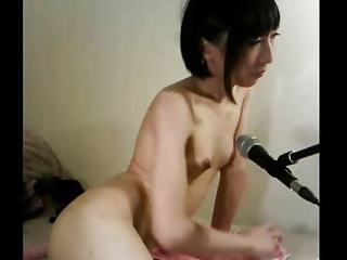 Japanese shemale on webcam part1