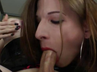 Nasty tranny hotties sucking and fucking