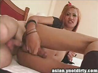 I banged her tiny asian tranny ass