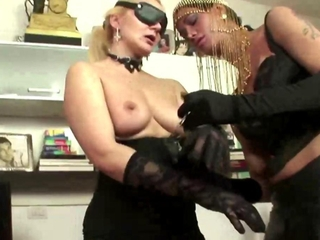 Video from: hardsextube | Shemale blown by slut before she fucks her slut