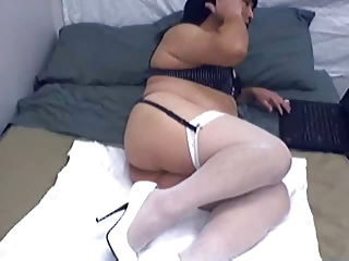 Another cam nite, in white stockings