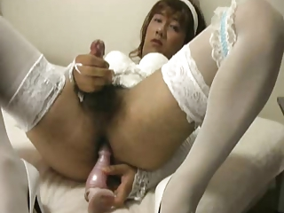 Amateur Asian Dildo