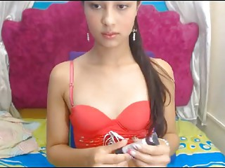 Johana Doll - red top young TS bates on cam 2015-12-23