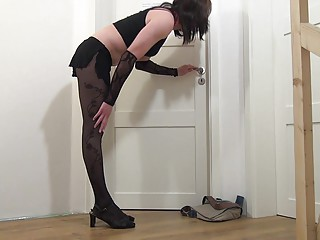 Sissy sucking big cock for cum -Crossdresser, Tranny