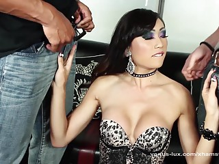 Venus Lux Swallows Two Loads In Threeway