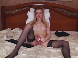 Beautiful Blonde Bombshell in a Hot Masturbation Show