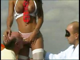Old And Young Outdoor Blowjob