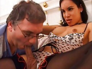 Old And Young Blowjob Lingerie