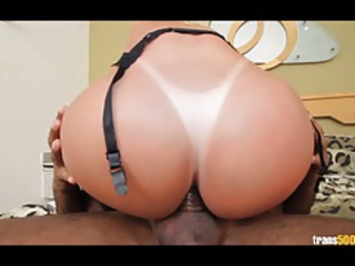 Sexy shemale Carla fucked in shemale ass