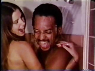 Vintage Interracial Couple Shower Sex