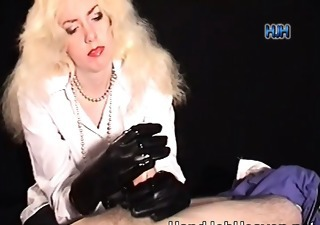 Blonde Handjob Latex