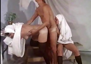 Nun Clothed Threesome Vintage Hairy