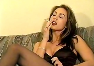 Cute Smoking Vintage Cute Brunette