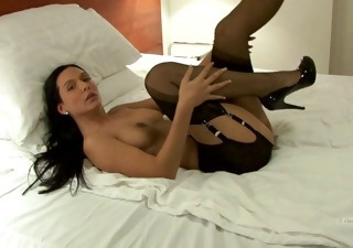 Amazing Solo Legs Milf Stockings Stockings