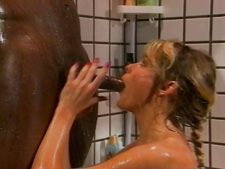 Interracial Bathroom Blowjob Bathroom