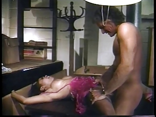 Bartender lures hot ebony into the..