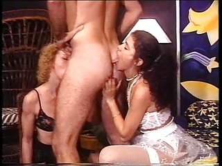 Threesome Licking Blowjob