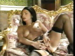Masturbating Brunette Pornstar Milf Stockings Stockings