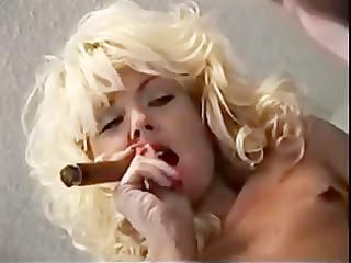 Blonde Smoking Fetish