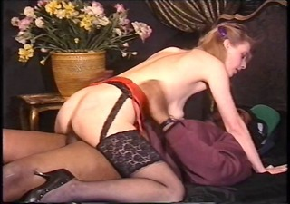 Interracial Vintage Riding  Interracial Anal Stockings