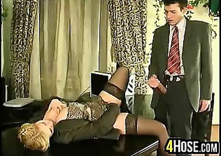 Secretary Clothed Blonde Boss Clothed Fuck Milf Office