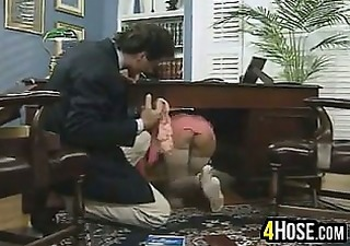 Upskirt Secretary Office Boss Drilled Upskirt