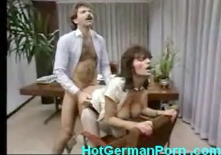 classic scene of german aged boss fucking employee