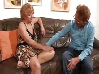German Mature Fucked On The Couch