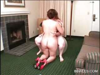 Naked BBW lesbos teasing snatches in sex games