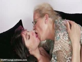 Kissing Glasses Lesbian Kissing Lesbian Lesbian Old Young Old And Young