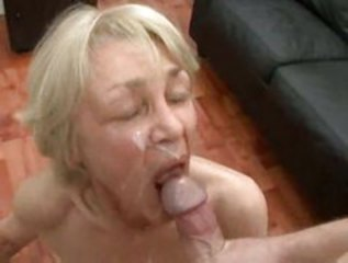 Blonde Granny In Threesome