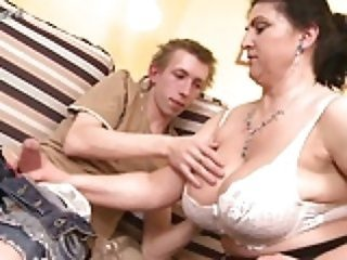 Mom Handjob Big Tits