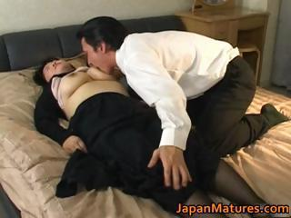 Japanese mature chick has hot sex part