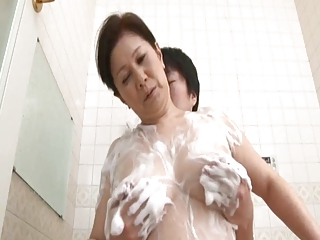Japanese Asian Old And Young Mother Old And Young Shower Mom
