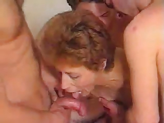 Hairy Mature Gangbang by snahbrandy