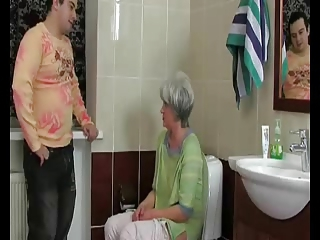 Toilet Old And Young Mom Old And Young Toilet Mom
