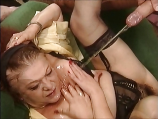 Mature and young slut in a perverse sex