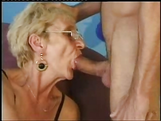 Skinny Old Gran Still Needs Young Cock !