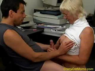 Handjob Old And Young Secretary Blonde Mom Crazy Old And Young