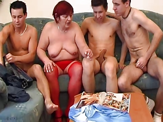 Gangbang Mom Saggytits Old And Young Stockings Tits Mom